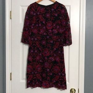Embroidered Adrianna Papell Dress